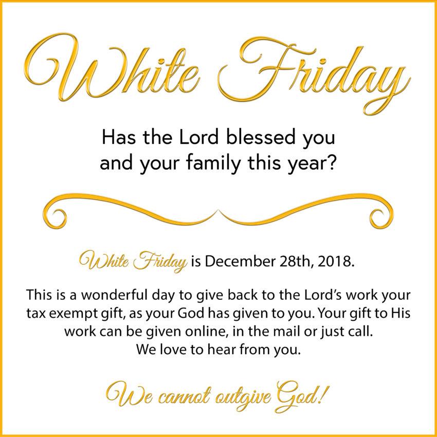 2018 White Friday