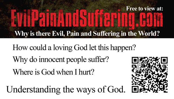 Evil Pain and Suffering Invitation Card Back