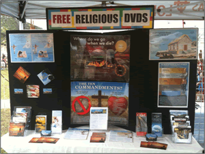 Image of the booth at the Kyle Market Days event.