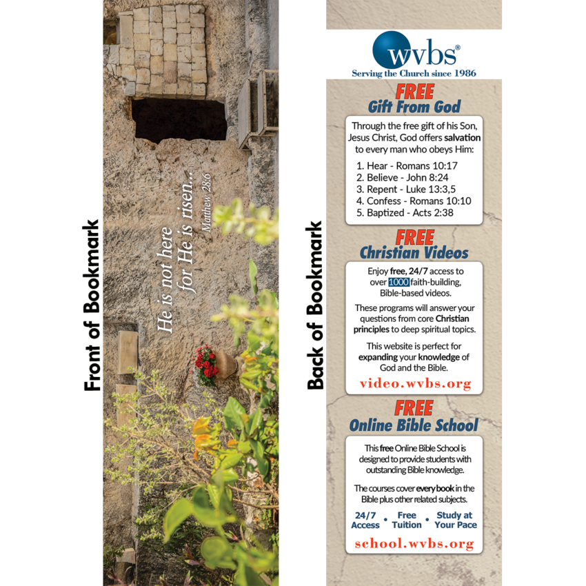 2019 Empty Tomb Bookmark