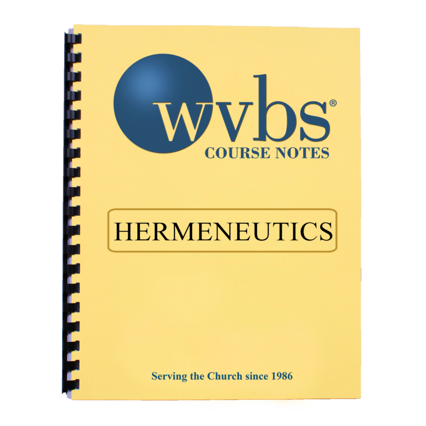 Hermeneutics Notebook