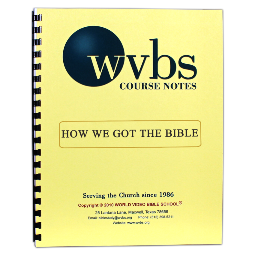 How We Got the Bible Notebook