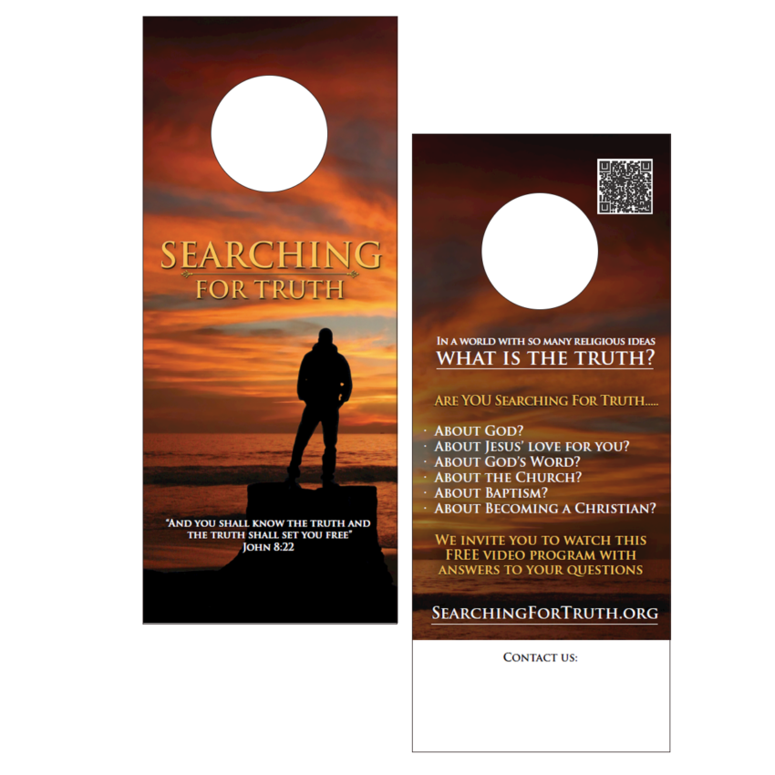 Searching For Truth Door Hanger