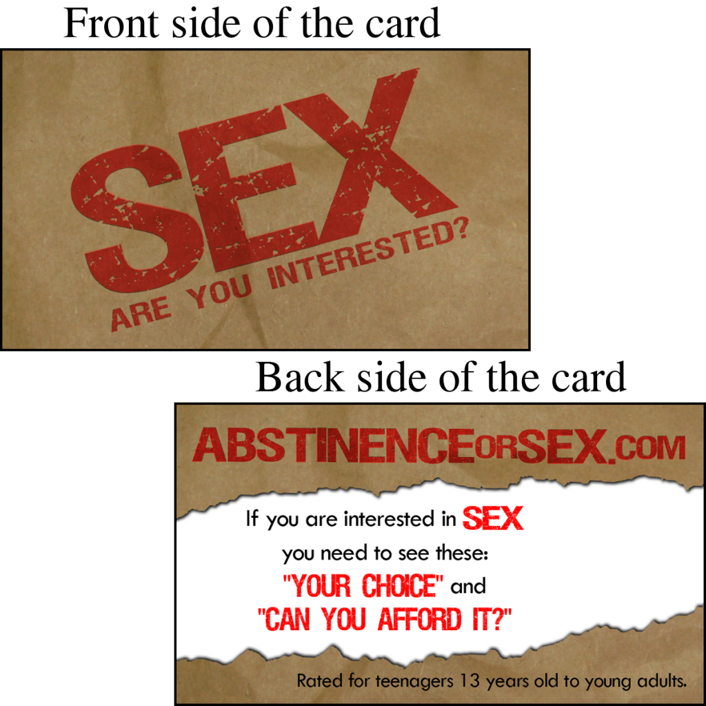 Abstinence Or Sex Invitation Card | WVBS Store